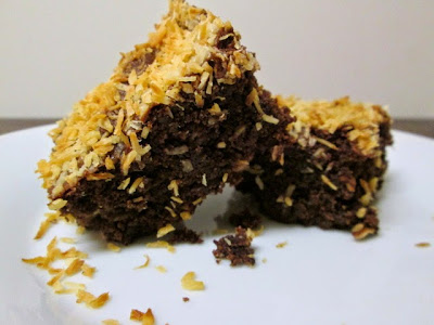 coconut brownies