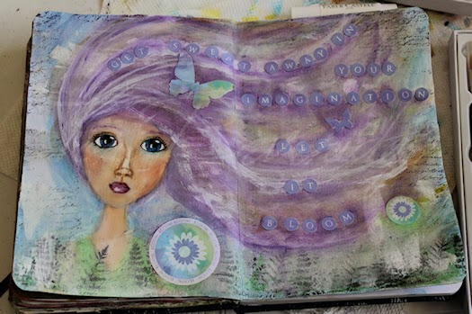 Let It Bloom Art Journal Page by Tori Beveridge