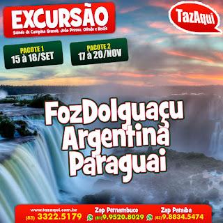 Excursão Foz do Iguaçu + Argentina + Paraguai