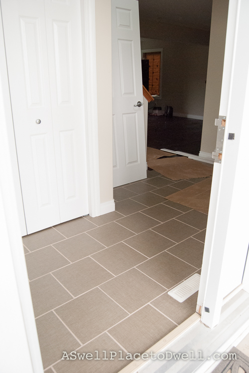 Linen look tile from Lowes