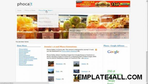 Photos Gallery Joomla 1.6 Theme Template
