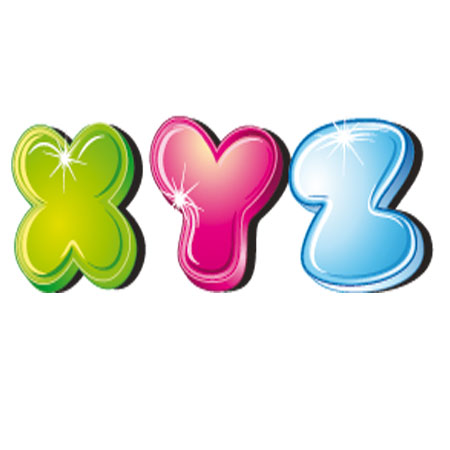 Dibujos letras colores para recortar - Letras decorativas para habitaciones infantiles ...