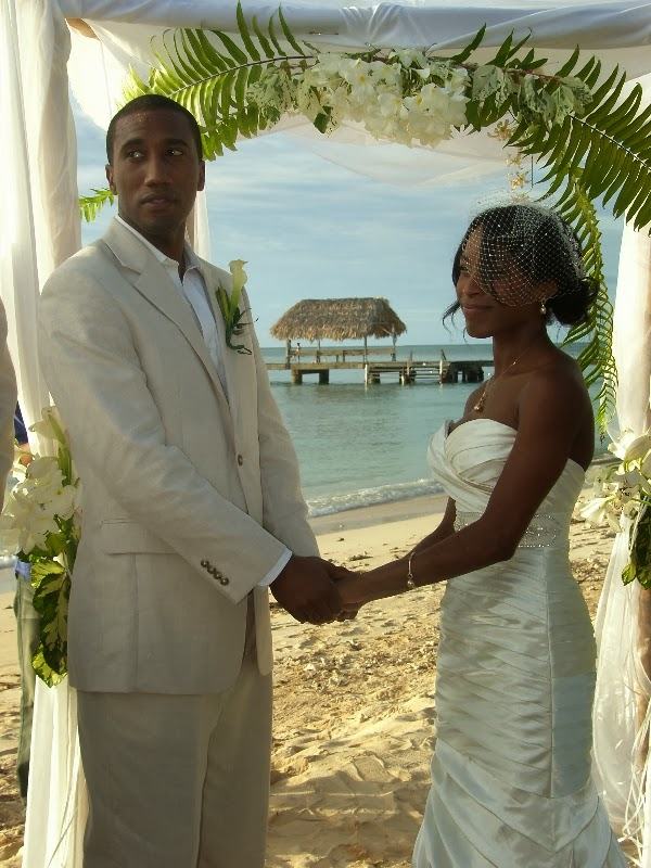 Tobago Beach Wedding at Pigeon point Heritage park