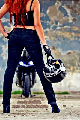 stunt sexyfemale rider motor