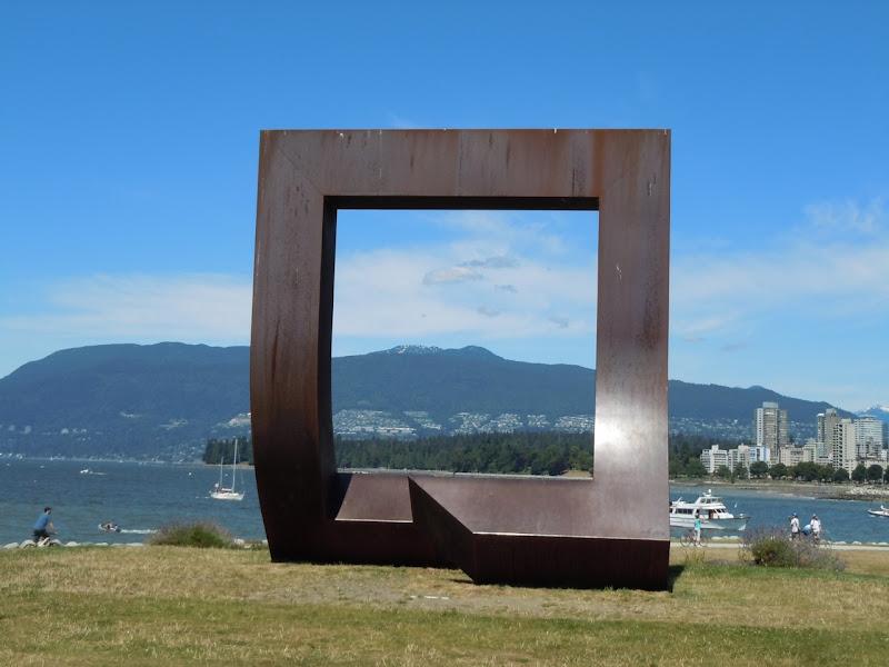 Gateway sculpture Vanier Park Vancouver