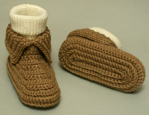 Free Printable Crochet Slipper Patterns : Miss Julias Patterns: Free Patterns - 30 Baby Booties to ...