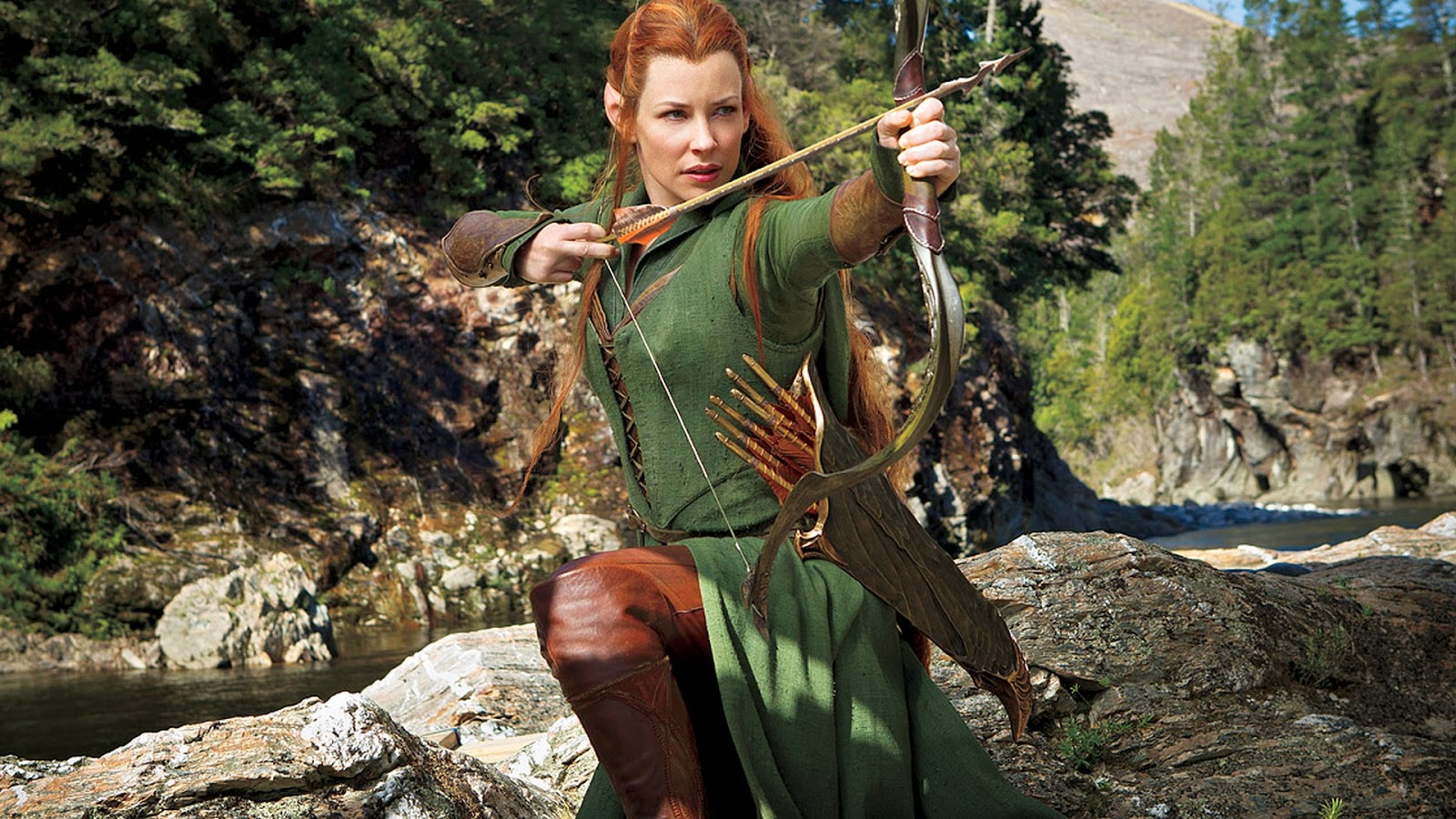 evangeline lilly as tauriel in hobbit wallpapers - Evangeline Lilly as Tauriel in Hobbit Wallpapers HD