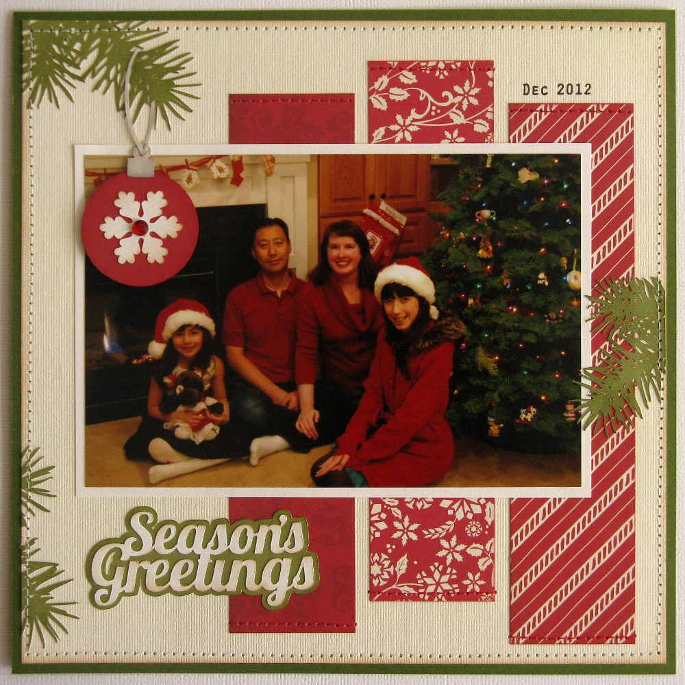 Scrapbook ideas christmas card - A Lori Whitlock This That Christmas Layout Card