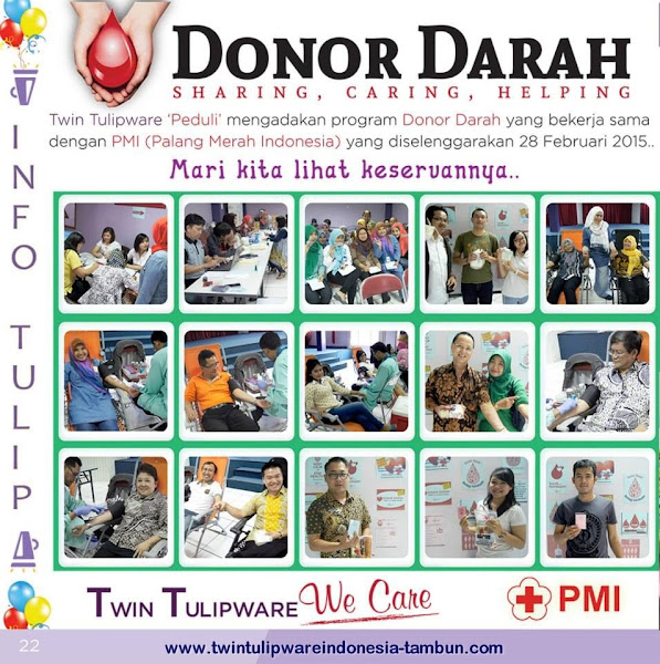 Twin Tulipware Donor Darah | Sharing, Caring, Helping