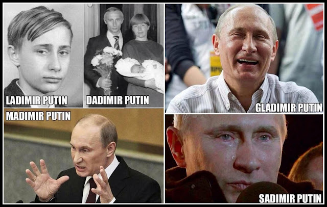 different forms of putin, vladimir putin, russia, vladimir vladimirovich putin, russian, president, photo, image, emotions,