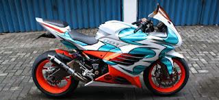 modifikasi ninja 250 merah  modifikasi ninja 250cc