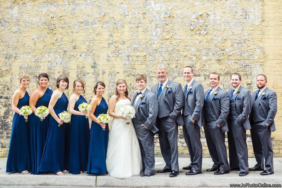 Lisa Foster Floral Design Navy Blue And White Wedding