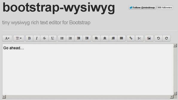 Bootstrap WYSIWYG editor