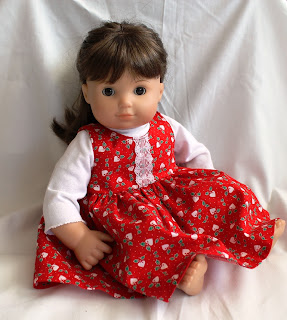 Christmas doll jumper American Girl Bitty Twin red white winter