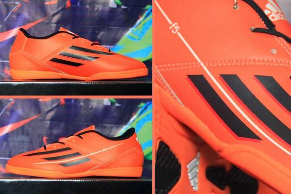 Jual Sepatu Futsal Terbaru Adidas F5 Orange Hitam Orange 2