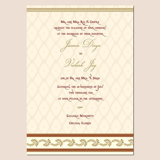Indian Wedding Invitation Samples