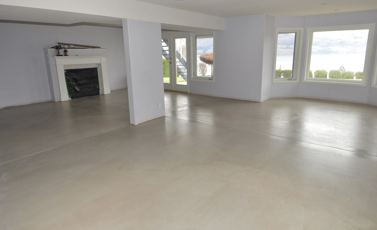Mode concrete cool and modern concrete floors for Best way to clean painted concrete floors