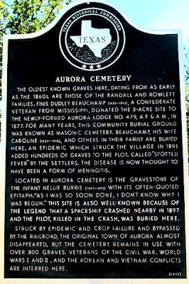 Aurora Cemetary Sign