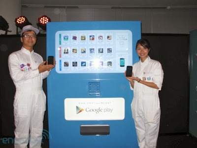 Google Play vending machine, android, google, google android