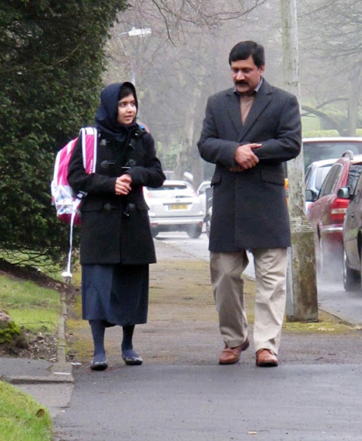 Malala Yousafzai in School in UK