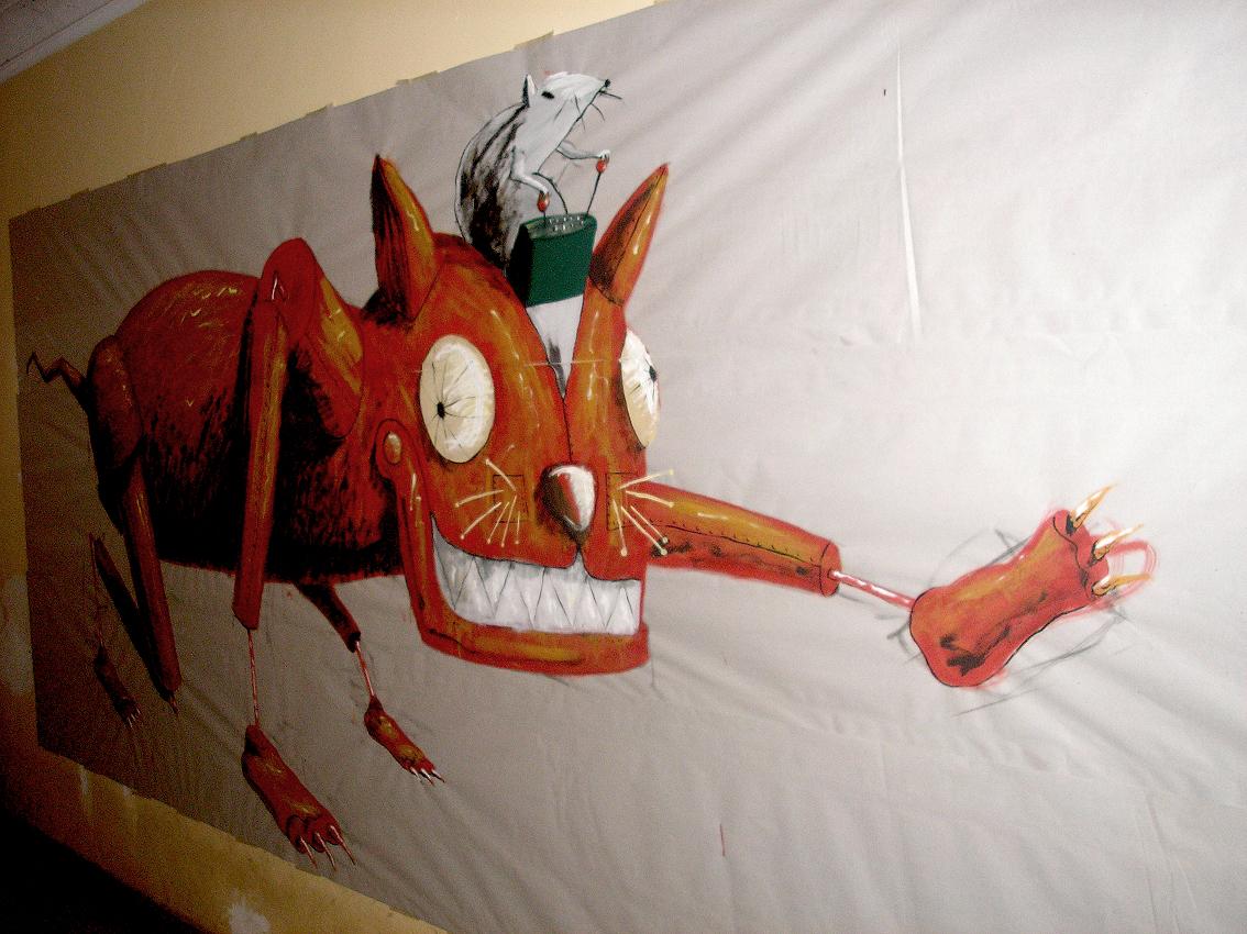 Santiago fredes mural esquizofr nico for Colowall papel mural santiago