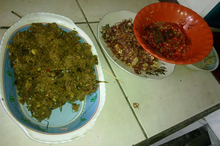 Basa genap, Balinese seasoning, often made during the celebration of Galungan and Kuningan
