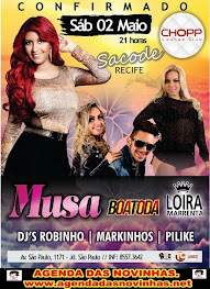"CHOPP LOUNGE CLUB - SACODE RECIFE COM ""MUSA""."