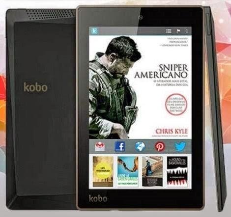 leitores digitais, Android, e-readers, gadgets, Kobo Arc 7HD, Kobo, leitura, livros digitais