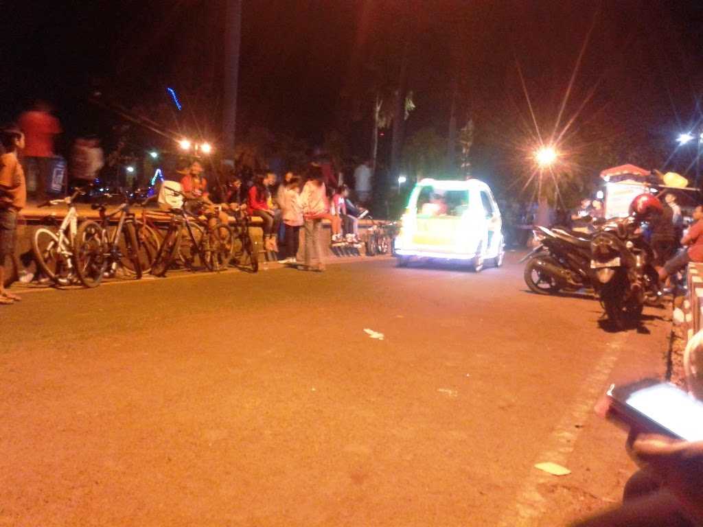 Malam dialun-alun kota Jepara