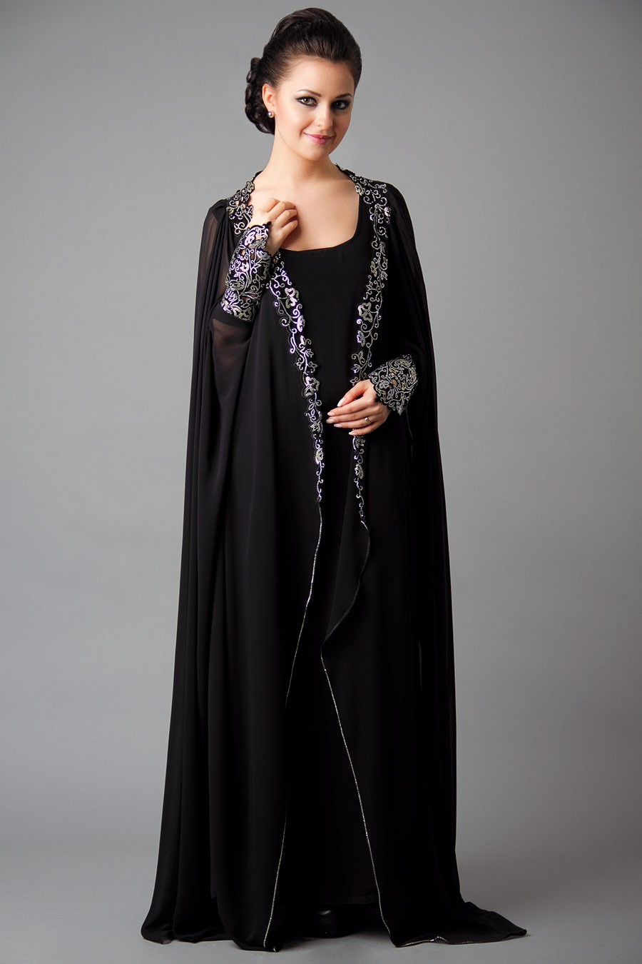 Designer Embroidered Abaya Collection 2013 2014 New