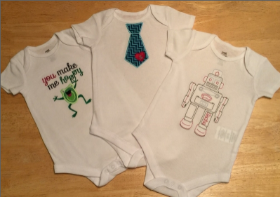 Machine Embroider Baby Onesies