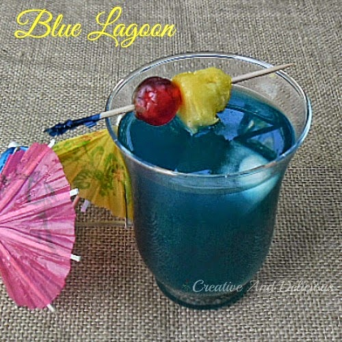 Blue Lagoon ~ Delicious cocktail for any occasion ! #BlueLagoonCocktail #DrinkRecipe #AlcoholicDrink