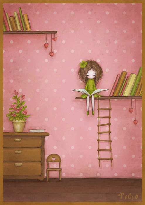 Girl reading by Sasha Salmina