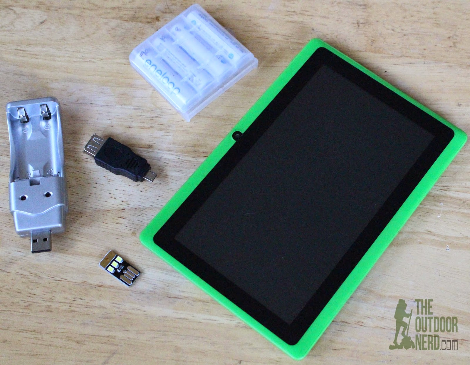 Tablets for Survival: Micro USB to Female USB Adapter and USB AA/AAA Charger