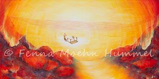 Bijbelse Schilderijen, Schilderij de Uitnodiging bij Bijbeltekst Atelier for Hope Christelijke Kunst