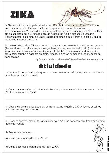 Atividades Educativas  Zika Dengue e Chikungunya