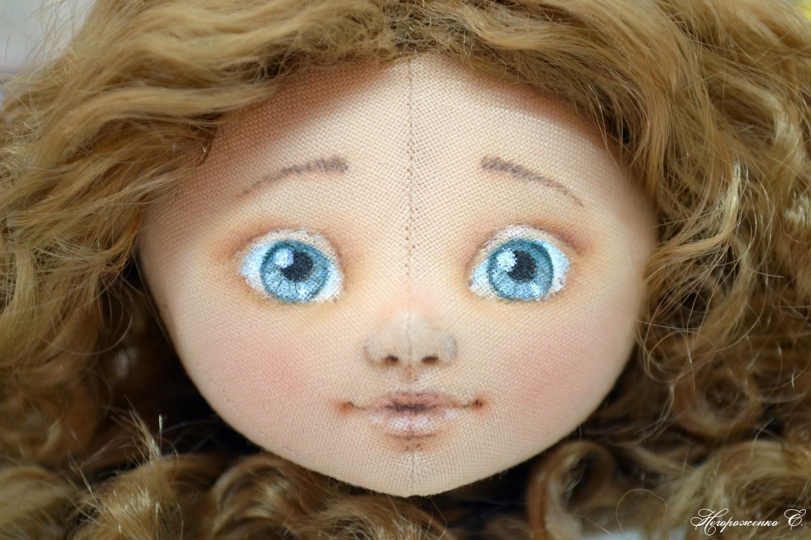 Вышивка лицо для куклы из