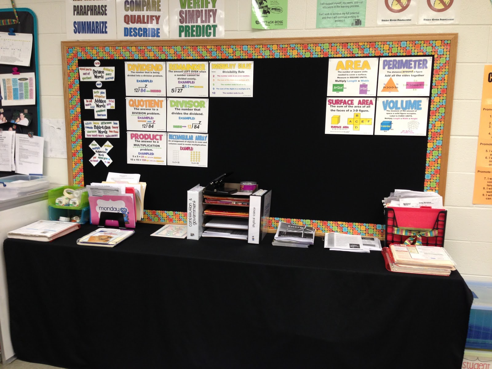 High School Math Classroom Design : How i organize my th and grade classroom