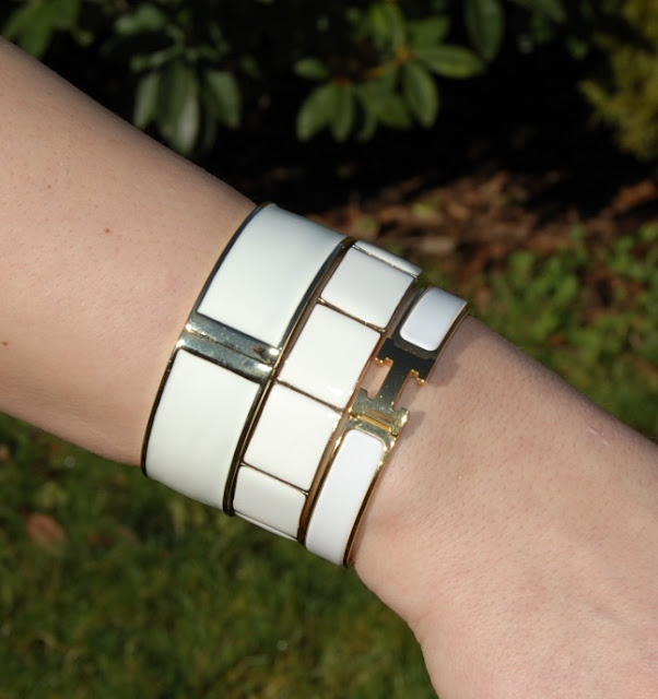White Hermes bangle