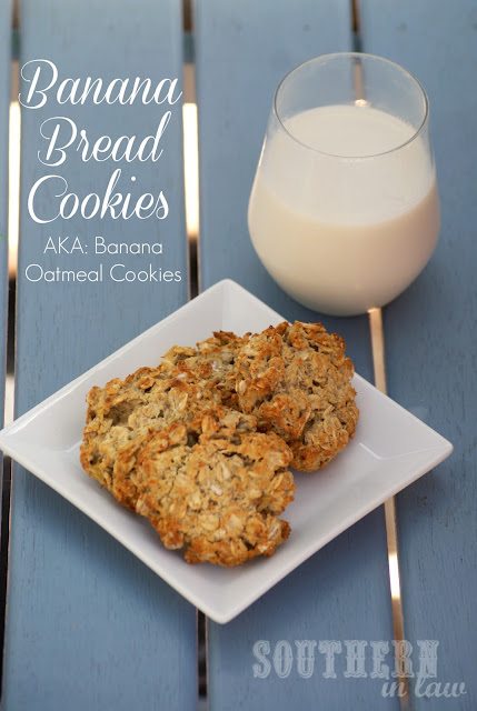 Healthy Banana Oatmeal Cookies - gluten free, low fat, vegan