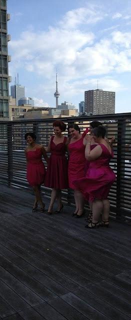 bridesmaids, Toronto, fuchsia