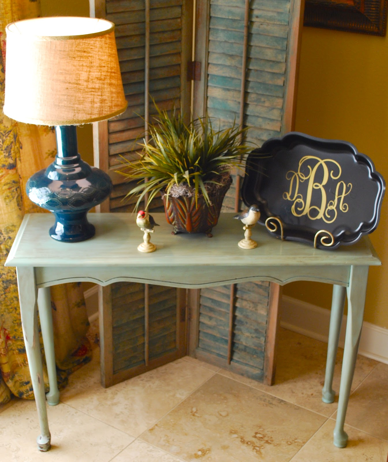 Console table makeover amanda jane brown for Sofa table makeover