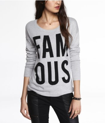 Express Intarsia Famous Sweater