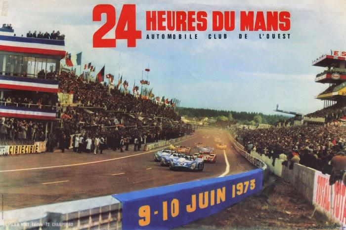 Affiche officielle des 24 Heures du Mans 1973