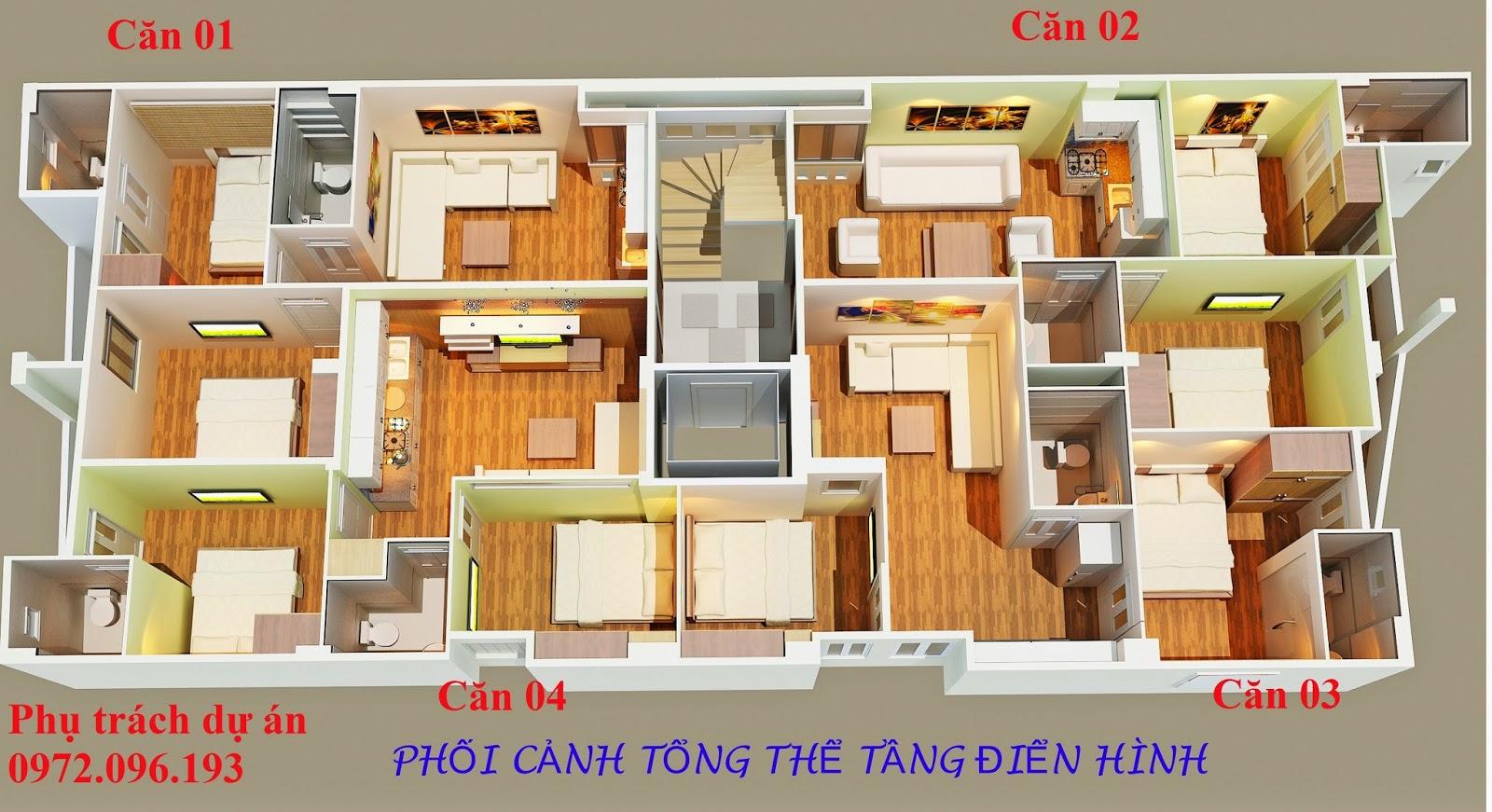 Thiết kế chung cư mini Quan Nhân - Cự Lộc