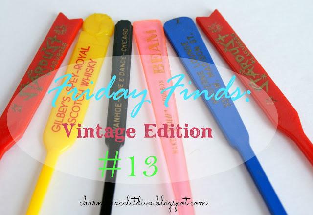 Vintage swizzle stick spoons