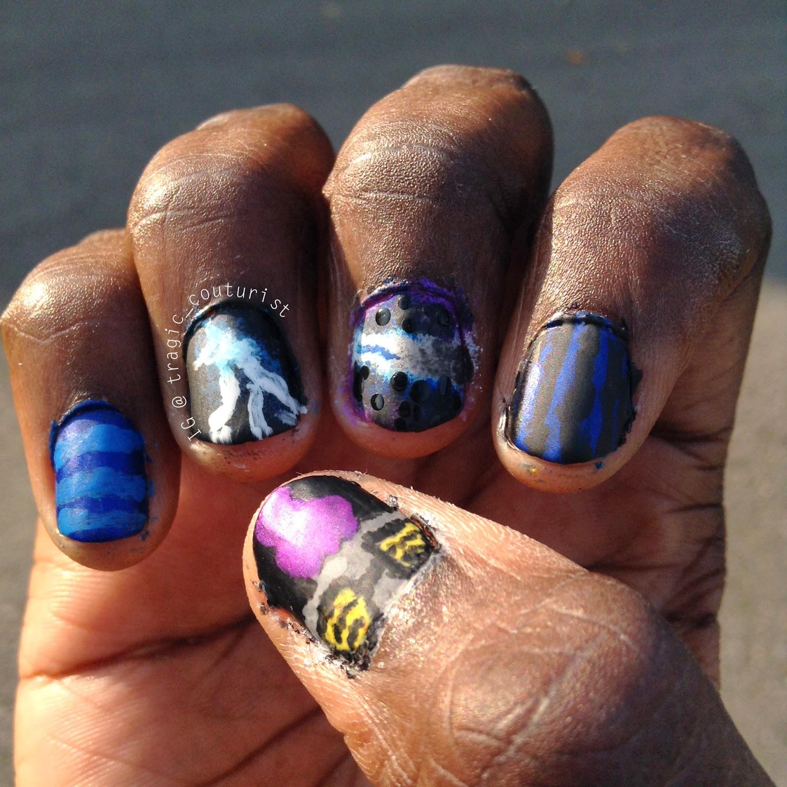 Eridan Nail Art Right Hand