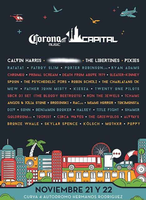 Corona Capital 2015 Cartel de bandas y venta de boletos baratos primera fila