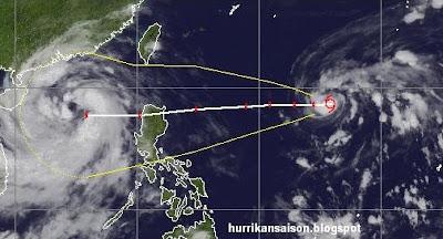 Tropischer Sturm NALGAE folgt NESATs Spuren, Nalgae, Philippinen, Taifun Typhoon, Taifunsaison, Hurrikansaison 2011, September, Oktober, Vietnam, aktuell, Verlauf, Vorhersage Forecast Prognose, Hainan,