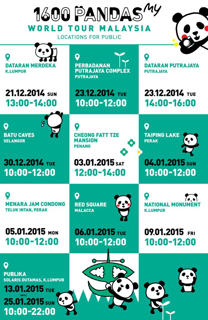 1600 Pandas in Malaysia, 1600 Pandas, 1600 Pandas World Tour in Malaysia, Dataran Merdeka, 1600 Pandas Dataran Merdeka, #1600PandasMY #1600Pandas